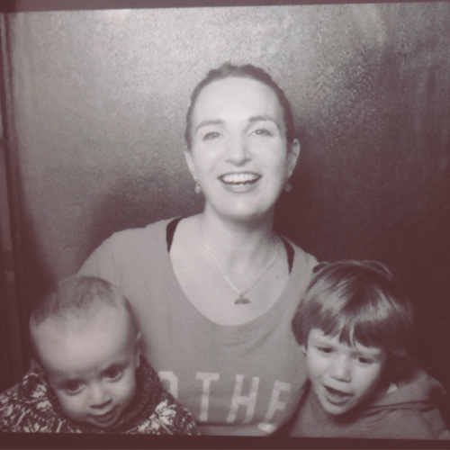 Anya Hayes with her two children